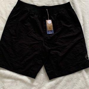 UPF50+ Mens Prana performance black mojo shorts XL